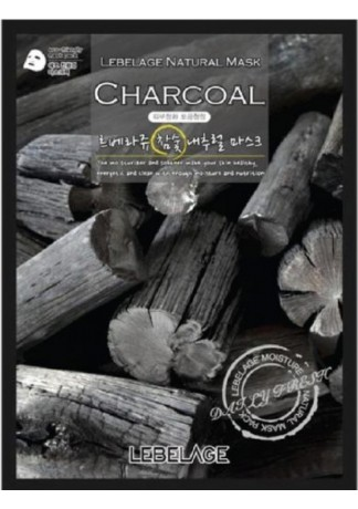 Тканевая Маска для Лица с Экстрактом Древесного Угля Charcoal Natural Mask, 23г