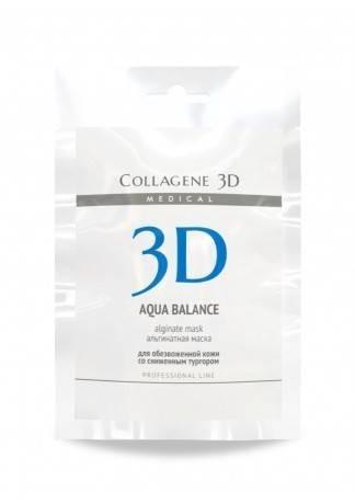Collagene 3D Альгинатная маска для лица и тела с гиалуроновой кислотой Aqua Balance, 30 г