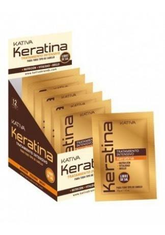 Кератиновая Интенсивно Восстанавливающая Маска для Поврежденных и Хрупких Волос Keratina, 12 шт*35г