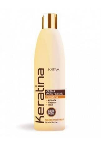 Кератиновый Укрепляющий Крем для Укладки для Всех Типов Волос Keratina, 250 мл