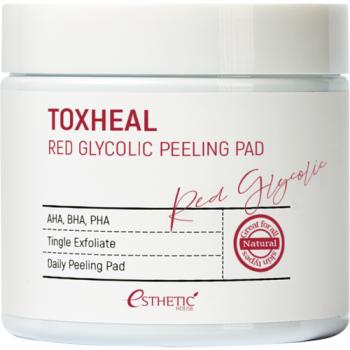 Пилинг-Подушечки Toxheal Red Glyucolic Peeling Pad Косметические Гликолевые, 100 шт