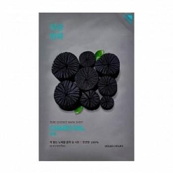 Маска Pure Essence Mask Sheet Charcoal Тканевая Успокаивающая с Углем, 23 мл