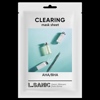Маска Clearing Mask Sheet Тканевая с AHA/BHA Кислотами для Очищения Пор, 25 мл