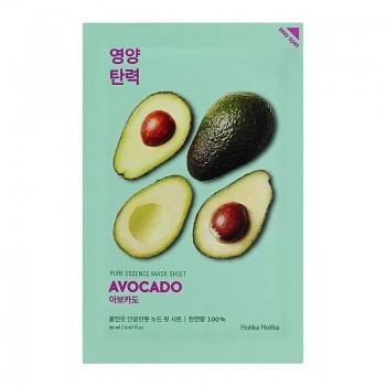 Маска Pure Essence Mask Sheet Avocado Смягчающая Тканевая Пьюр Эссенс Авокадо, 20 мл