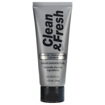 Маска-Трансформер Clean & Fresh Charcoal Transforming Clay Mask Глиняная с Древесным Углем, 100г