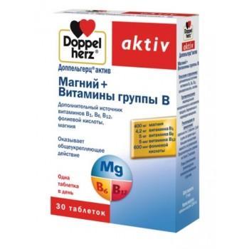 Магний+Витамины Aktiv Группы В, таб №30