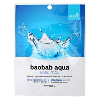 Маска Baobab Aqua Mask Pack Тканевая для Лица с Экстрактом Баобаба, 28 млМаска для Лица с Экстрактом Баобаба Baobab Aqua Mask Pack, 28 мл
