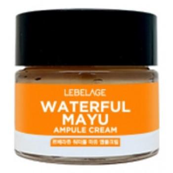 Крем Waterful Mayu Ampule Cream Ампульный Увлажняющий с Лошадиным Маслом, 70 мл