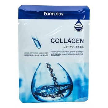 Маска Visible Difference Mask Sheet Collagen Тканевая для Лица с Коллагеном, 23 мл