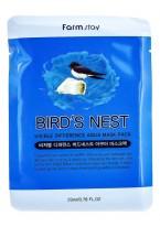 Маска Visible Difference Bird's Nest Aqua Mask Pack Тканевая для Лица Увлажняющая с Экстрактом Ласточкиного Гнезда, 23 мл