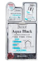 Маска Трехэтапная для Лица Выравнивающая Тон Кожи 3Step Aqua Black Mask Pack, 8 мл