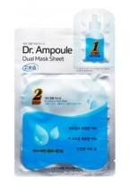 Маска Dr. Ampoule Dual Mask Sheet Essential Care Увлажняющая Двухфазная для Лица, 2+24 мл