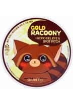Патчи Gold Racoony Hydro Gel Eye & Spot Patch Гидрогелевые для Кожи под Глазами, 60 шт