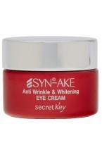 Крем Syn-Ake Anti Wrinkle & Whitening Eye Cream Антивозрастной для Кожи вокруг Глаз с Пептидом, 15г