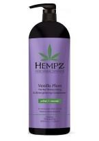 Кондиционер Vanilla Plum Herbal Moisturizing & Strengthening Conditioner Растительный Увлажняющий и Укрепляющий Ваниль и Слива, 1000 мл
