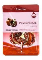 Маска Visible Difference Mask Sheet Pomegranate Тканевая для Лица с Натуральным Экстрактом Граната, 23 мл