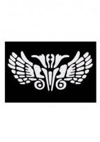 Трафареты Черно-Белые Многоразовые Каучуковые (Размер 8см х 11см)
