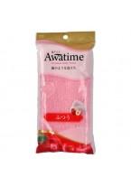 Мочалка Awa Time Body Towel Normal для Тела Средней Жесткости Розовая, 35г