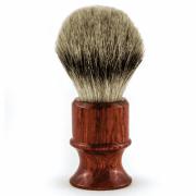 Кисточка Metzger для Бритья из Барсучьего Волоса с Деревянным Темно-Коричневым Основанием