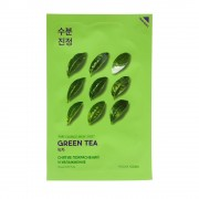 Маска Pure Essence Mask Sheet Green Противовоспалительная Тканевая Tea Пьюр Эссенс Зеленый Чай, 20 мл