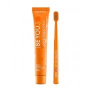 Набор Be You Orange set Оранжевый Зубная Паста Чистое Счастье, 90 мл+ Ультрамягкая Зубная Щетка CS5460