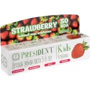 Паста Kids Strawberry Зубная Президент Детская Клубника 3-6 лет, 50 мл
