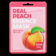 Маска Real Peach Essence Mask Тканевая для Лица с Экстрактом Персика, 23 мл