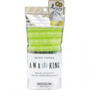 Мочалка-Полотенце Awa King для Тела Средней Жёсткости, Светло-Зеленая, 28Х100 см, 1 шт