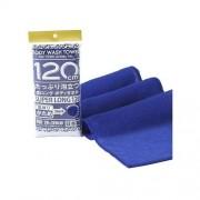 Мочалка Shower Long Body Towel для Тела Серхжесткая, Темно-Синяя, 28Х100 см, 1 шт