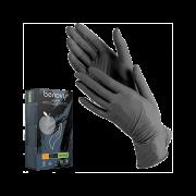 Перчатки Нитриловые Черные, Неопудренные, 3,6гр, S, 100 шт