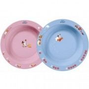 Глубокая Тарелка 230 мл, 6 мес+, Голубая и Розовая
