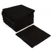 Салфетка 20х20 см, Черная Гладкая, 50г/м2, 100 шт