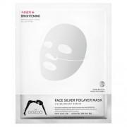 Экспресс Маска 3-х Слойная Серебряная Фольга с Термоэффектом с Фуллереном Сияние, Детокс, Антиоксидантная Защита Face Silver Foilayer Mask, 1 шт*25 мл