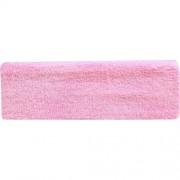 Повязка Махровая для Волос, на Липучке, Цвет - Розовая, 1 шт