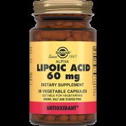 Кислота Alpha Lipoic Acid Альфа-Липоевая Капсулы №30, 1 уп