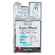 Маска Трехэтапная для Лица Выравнивающая Тон Кожи 3Step Aqua Black Mask Pack, 8 мл