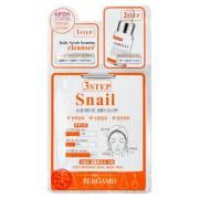 Маска Трехэтапная для Лица с Муцином Улитки 3Step Snail Mask Pack, 8 мл