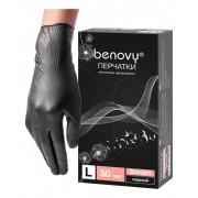 Перчатки ВиниловыеЧерные Неопудренные ПВХ (8-9), 4,8гр, L, 100 шт