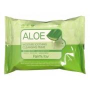 Очищающие Увлажняющие Салфетки с Экстрактом Алоэ Aloe Moisture Soothing Cleansing Tissue, 30 шт