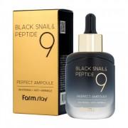 Сыворотка Black Snail & Peptide9 Perfect Ampoule Омолаживающая Ампульная с Комплексом из 9 пептидов, 35 мл