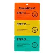 Полоски Clean & Fresh 3-Step Nose Pack для Носа Трехэтапные, 3 шт
