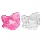 Пустышка Physio Soft, 2 шт.,0-6 мес.,Силикон, для Девочек