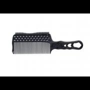Расчёска с Ручкой, Зубцами на Обушке и Направляющей Рельсой для Стрижки под Машинку Гибкий Карбон