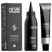 Краситель Homme Hair Light Chestnut  CT-7 для Волос Светло-Каштановый, 30 мл+30 мл