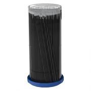 Безворсовые Микрощеточки для Нанесения Жидкостей 2 мм Черные, 100 шт