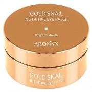 Патчи Gold Snail Nutritive Eye Patch для Глаз Гидрогелевые с Муцином Улитки и Золотом, 60 шт