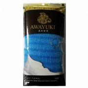 Мочалка Awayuki для Тела Сверхжесткая Удлиненная Синяя 28х100 см, 1 шт