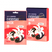 Маска Lily Charcoal Every Day Mask для Лица Сужение Пор, 27 мл