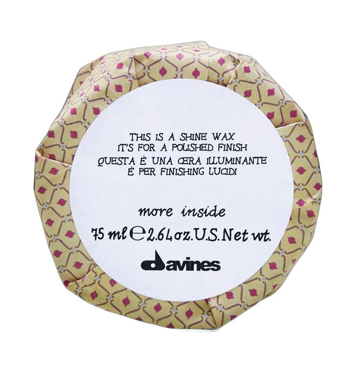 Davines Shine Wax - Воск блеск More Inside для глянцевого финиша, 75 мл sebastian жидкий воск для фиксации и текстуры resintek 75 мл