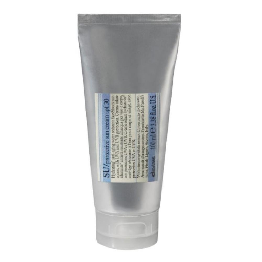солнцезащитный крем для тела spf 50 clinique body cream 150 мл Davines SU Protective cream spf 30 - Солнцезащитный крем с SPF 30, 100 мл